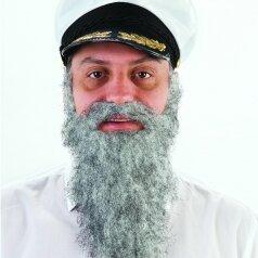 שפם זקן ארוך באפור
