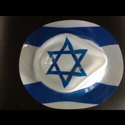 12 כובעים דגל ישראל כחול/לבן