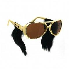 Livraison-gratuite-vente-chaude-cadre-en-or-classique-Elvis-lunettes-avec-Sideburns-Elvis-Costume-Sunglasse-Elvis