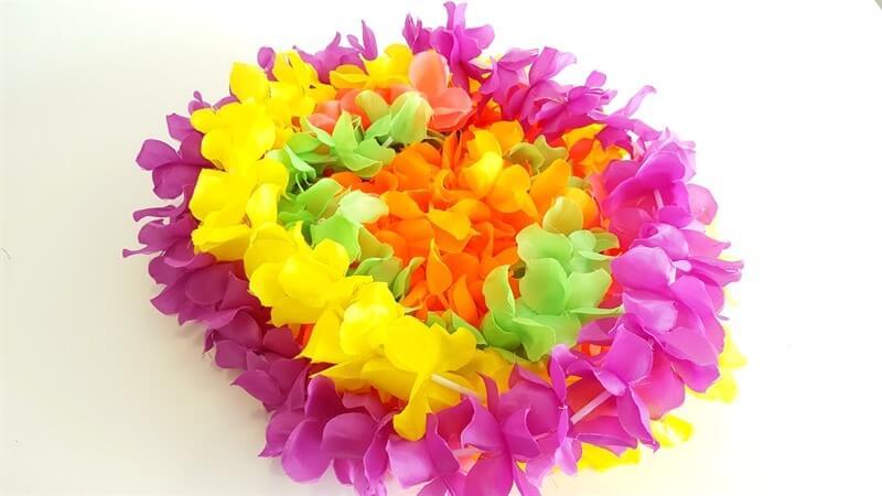 12 שרשראות הוואי VIP צבעוניות