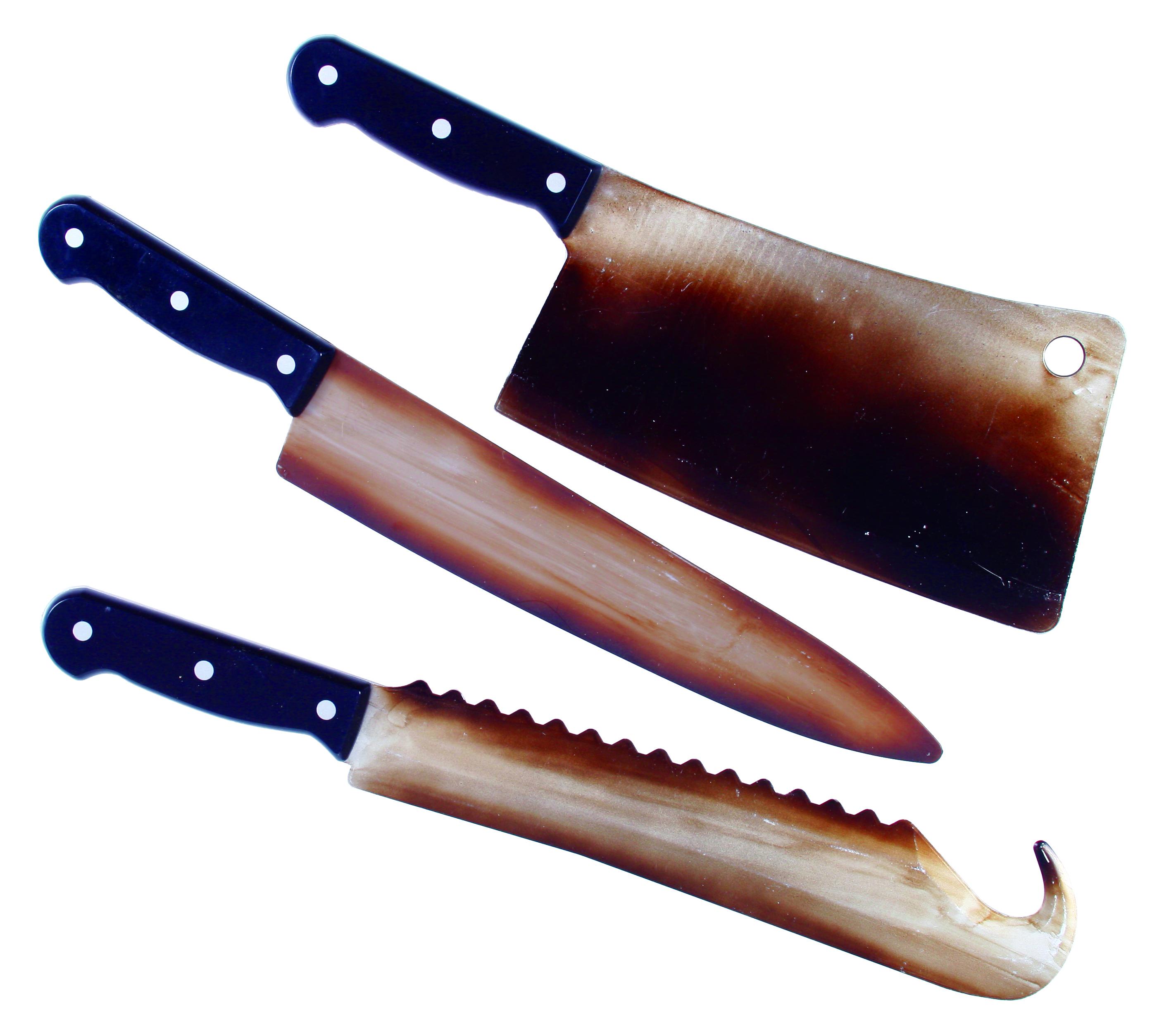 ערכת סכיני הקצב חלודים - 3 פריטים