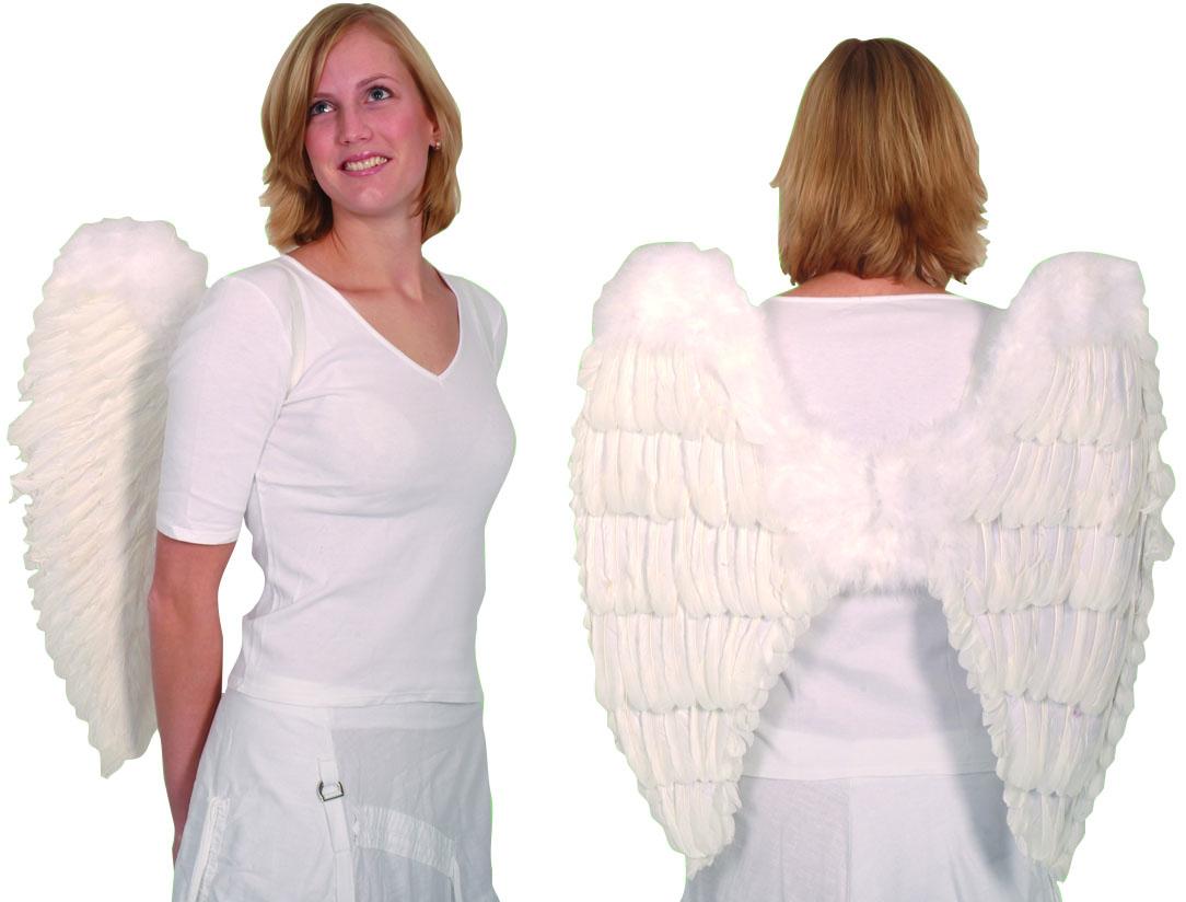 כנפי מלאך מנוצות לבנות 65 ס