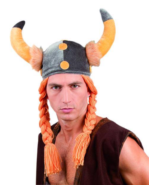 כובע ויקינגי עם שיער
