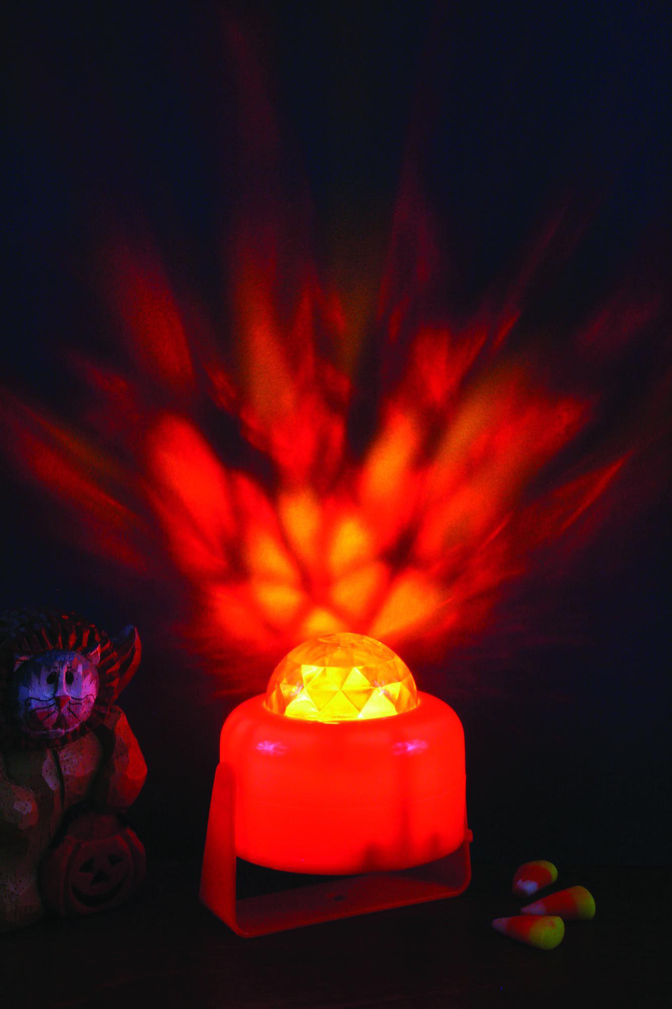 מנורת דיסקו אש מסתובבת