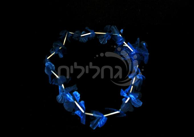 12 שרשראות הוואי כחול
