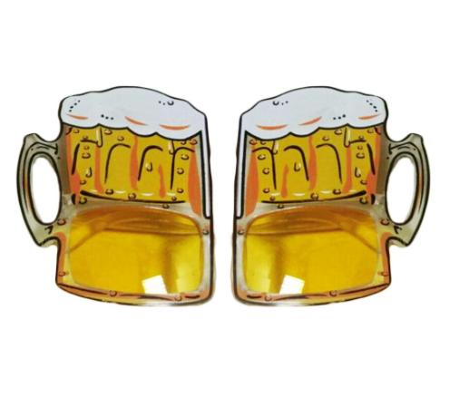 משקפי כוסות בירה